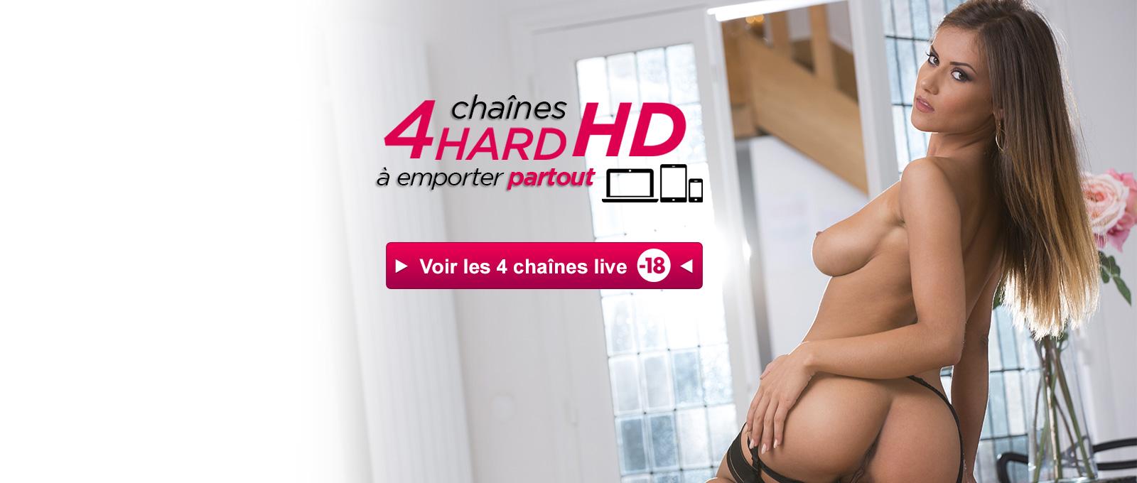 4 chanes TV porno en HD regarder en ligne 24/7 - Dorcel TV